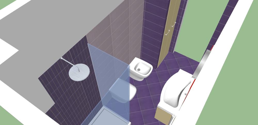 bagno progetto 3d