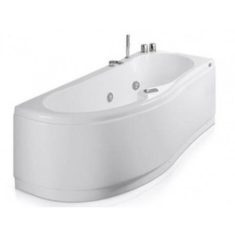Vasca con telaio misure 170x70 75 vasca da bagno glass lis - Misure vasche da bagno angolari ...